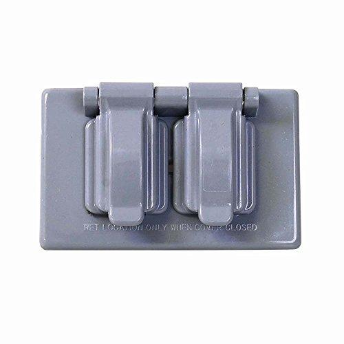 Surtek 136612 Placa de Plástico para Intemperie para Contacto Dúplex