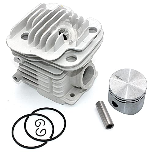HaoYueDa Kit de pistón de Cilindro de 45 mm para Motosierra Oleo-Mac 952952 Master Efco 152 PN 50082012E 50082012 50070047a 50082012B