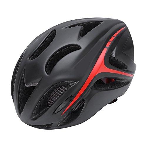 Casco De Ciclismo /Casco De Bicicleta De Montaña Bicicletas /Casco De Seguridad Casco De Protección Ligera Con Correa Ajustable Y Cojín Cómodo Para Hombres Y Mujeres,Talla de 57cm-62cm ( Color : Rojo )