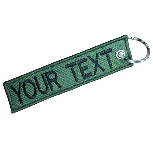 Graceful life Custom Military keychain Embroidery Text Personality Keychains Tag with Key Ring EDC for Servicemen Car Yellow Motorcycle