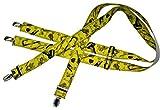 Teichmann Clip-Hosenträger für Herren H-Form Gelbe Maßband-Musterung One Size 120cm