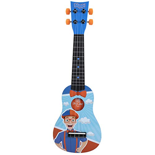 First Act Blippi Toy Ukulele, 20 Inch - Features YouTube Educational Entertainer Blippi – Ukulele for Beginners, Musical Instruments for Toddlers and Preschoolers, Ready to Play