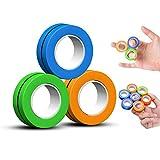 Magni Rings Anillo de Dedo Magnético Juguete para Aliviar el Estrés Pulsera Magnética Anillo de Descompresión Juguete Anillo Mágico Herramientas Juguetes de Descompresión - (impulsado por FinGears)