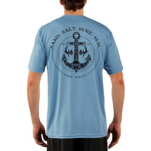 SAND.SALT.SURF.SUN. Shark Anchor Men's UPF 50+ UV Sun Protection Performance Short Sleeve T-Shirt XX-Large Columbia Blue