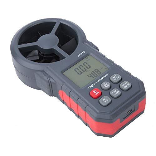 Anemómetro digital portátil WT87B, medidor de velocidad de viento USB portátil, 9V 3mA