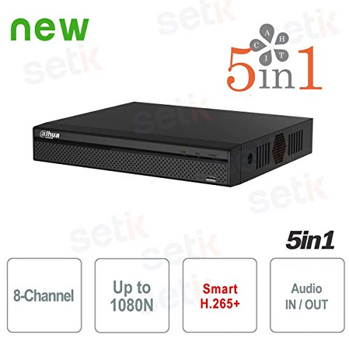 Dahua Europe–DVR 8Canales XVR Dahua HD cvi tvi AHD Analógica IP 1080N h.265+–xvr4108hs-x1