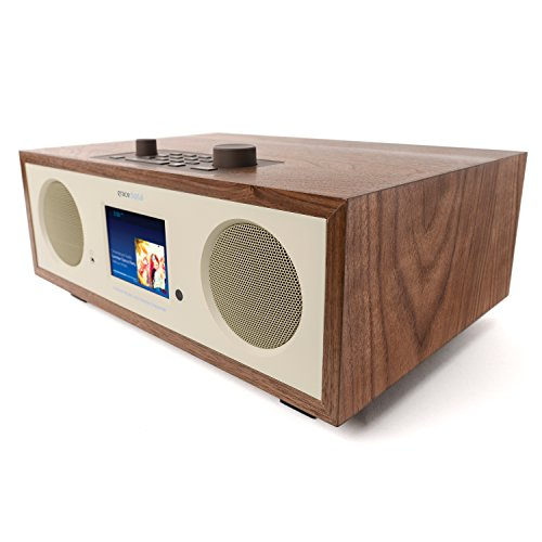 Grace Digital Encore+ Wireless Stereo Smart Speaker & Internet Radio with Wi-Fi + Bluetooth & 3.5' Color Display Walnut (GDI-WHA7505)