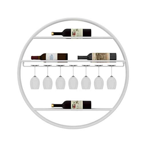 Soporte para botellas de vino tinto para el hogar, para colgar en la pared