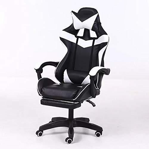 Verwendet, um Spiele zu spielenHochwertiger ergono High-Back Gaming Gaming Chair, Racing Design Office Gaming Chair, einstellbarer rotierender ergonomischer Arbeitsstuhl für Lendenunterstützung Gaming