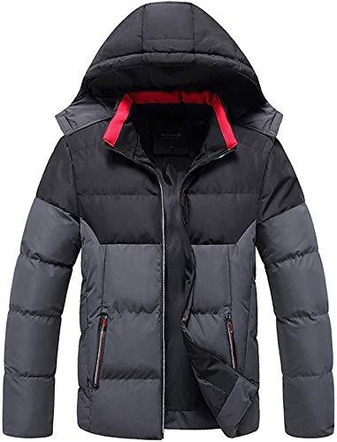 2021 Men's Classic Hooded Puffer Jacket Warm Winter Coat Windbreaker Jackets Plus Size Overcoat Casual Outwear