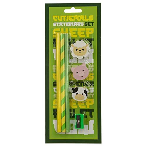 EliteKoopers 7 Piece Stationery Set For Kids School Accessories Novelty Gift Item