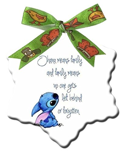SterlingShop Lilo and Stitch Quote Quotes Custom Design Fashion Snowflake Christmas Decorations