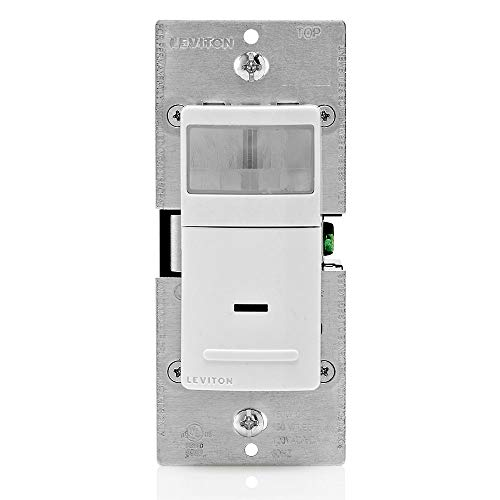 Leviton IPV15-1LZ Decora Vacancy Motion Sensor In-Wall Switch, Manual-On, 15A, Single Pole or 3-Way, White/Ivory/Light Almond