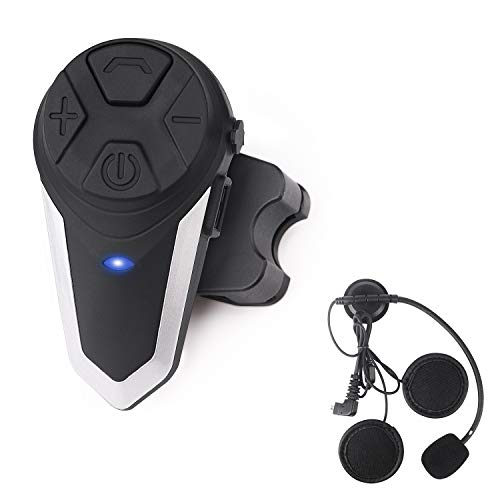 Motorcycle Bluetooth Headset Yaconob BT-S3 1000m Motorcycle Helmet Bluetooth Radio Intercom Wireless Interphone to 2-3 Riders (Waterproof/Handsfree/Stereo Music/FM Radio/GPS/MP3)1 Pack