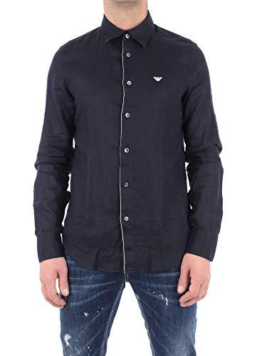 Emporio Armani Hombre Camisa BLU Navy