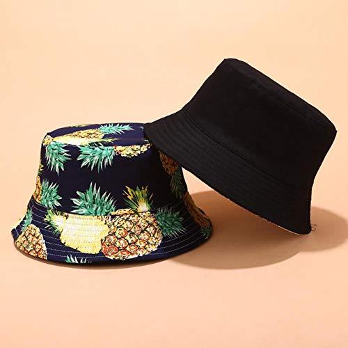 TUOF Sombrero Sombrero de Pescador para Mujer Sombrero de Verano para Mujer Deportes al Aire Libre Sombrero de Sombra Tapas de Lavabo de Ocio, 5,56-58 cm