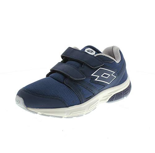 Lotto Life's 210716 1KE SPEEDRIDE 601 V S Dress Blue Silver Strappo Sneaker (45 EU)