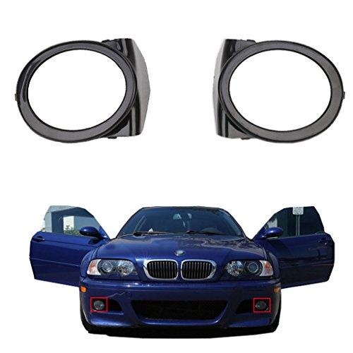 Molduras de faros antiniebla originales para paragolpes delantero M3 E46 referencias 51112695255 y 51112695256 (ver modelos de coche compatibles en la descripción)