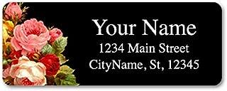 Personalized Return Address Labels - Vintage Flowers Design - 120 Custom Self-Adhesive Stickers