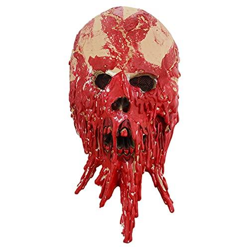 Disfraz De Halloween Máscaras De Terror Máscaras Faciales Divertidas Máscaras Anónimas De Látex Máscara De Calavera Sangrienta De Halloween Accesorios De Terror De Fiesta