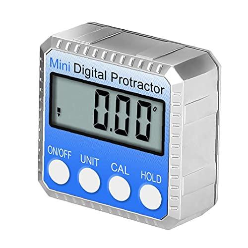 0-360 ° Tipo de inclinómetro Digital de Calibre de Esquina de Cortador electrónico con LCD Azul Caja de Prueba de Bisel reparación