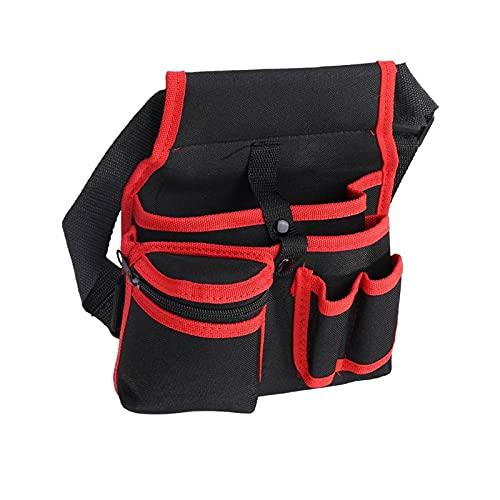 Bolsa para Herramientas Paquete de herramientas de cintura, bolsa de cremallera suave de poliéster pequeña Pequeña bolsa de electricista duradera con bolsillos para herramientas Llavero de linterna Bo