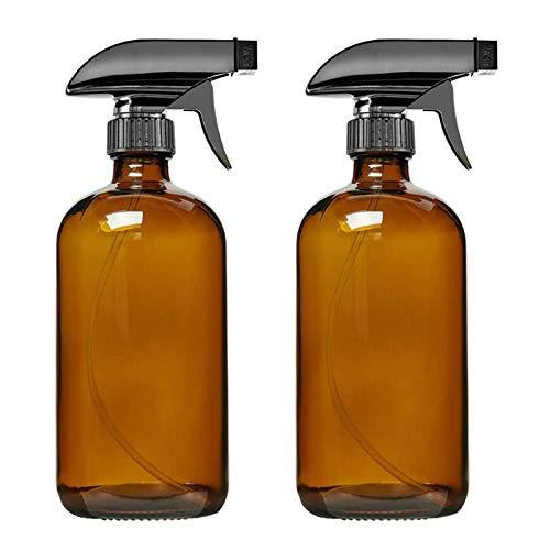 Milageto 2 Botellas de Spray de Vidrio ámbar/Azul Vacías de 250/500 Ml Boston + Rociador de Gatillo - Azul 500ml, Individual