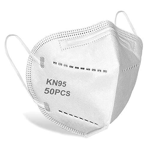 50 Pack Face Masks Reusable Non-woven Fabrics Masks Windproof Face Covering Unisex Adult Plain Safety Masks Dust Face Mask for Women,Men