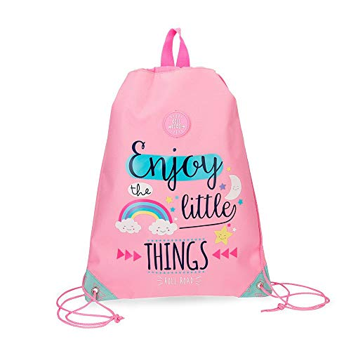 ROLL ROAD Little Things Mochila tipo casual, 42 cm, 0.67 litros, color Rosa