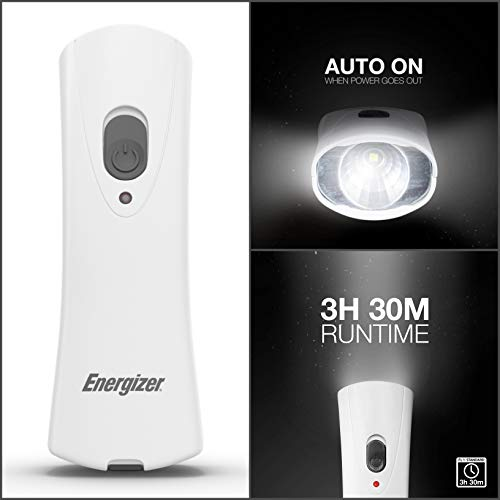 Energizer Compact Handheld Rechargeable Plug-in Flashlight LED 40 Lumens Auto-on