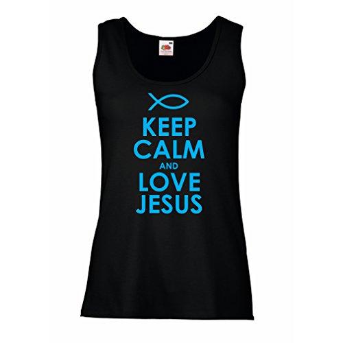 Camisetas sin Mangas para Mujer Amo a Jesucristo, Religión Cristiana