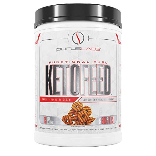 Purus Labs Ketofeed Low Glycemic Meal Replacement, Samoa Chocolate Cream,21.3 Oz