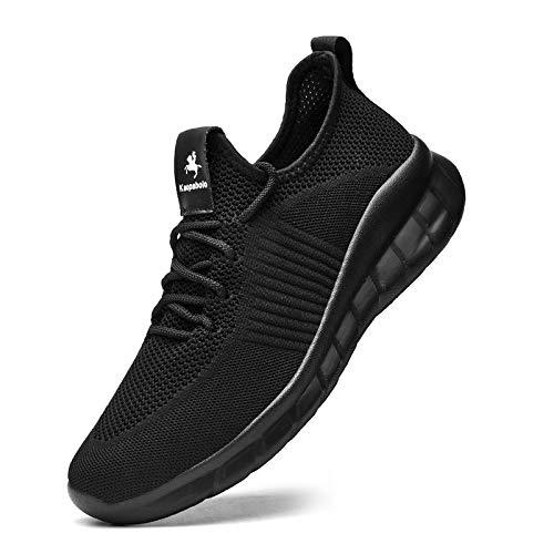 Kaopabolo Turnschuhe Damen Herren Leichtgewichts Atmungsaktiv Sportschuhe Sneaker Laufschuhe Walkingschuhe für Outdoor Fitness Sporthalle schwarz 42