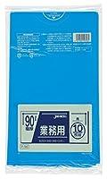 ジャパックス 業務用ポリ袋90L 青(10枚入) P-96 00002359 【まとめ買い5冊セット】