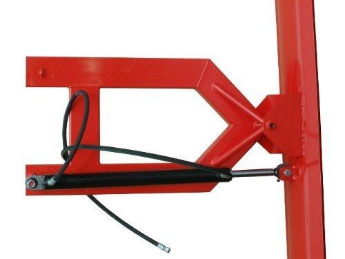 Schneeschild hydraulisch 150x40cm für Gabelstapler und Radlader m. Gabelaufnahme Rot mit Schürfleiste aus Gewebegummi/Schnelle und problemlose Aufnahme mit den Gabelzinken