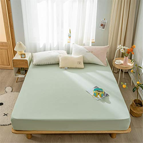 Xiaomizi Children's Knitted Cotton Bed Sheet Children's Room 1.0/1.2 * 1.35 * 1.5 Mattress Tianzhu Cotton Protective Cover