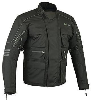 RIDEX CJ1 Veste de moto imperméable pour homme M Noir