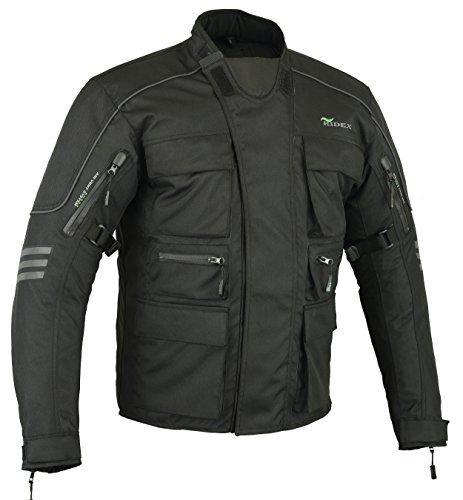 RIDEX CJ1- Chaqueta de protección impermeable para motocicleta, hombre