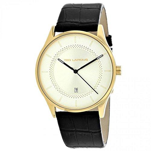 Ted Lapidus Men's Classic 41mm Leather Band Steel Case Quartz Watch 5131905
