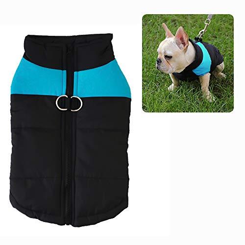 ZoneYan Hunde Mantel Warme Jacke, Hund Kleider, Haustier Kleidung, Welpe Weste, Dog Kleidung, Hunde Mantel Herbst Winter, Doggy Bekleidung, Welpen Jacken Warm