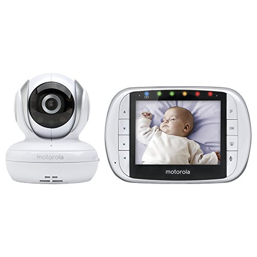 Motorola MBP33XL 3.5u0022 Video Baby Monitor with Digital Zoom, Two-Way Audio and Room Temperature Display