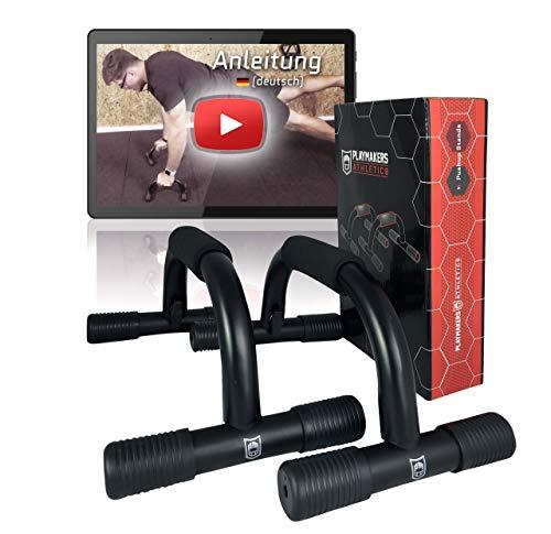 Playmakers Liegestützgriffe - gelenkschonend mit Schaum Griff - für Fitness und Krafttraining - Push Up Stand