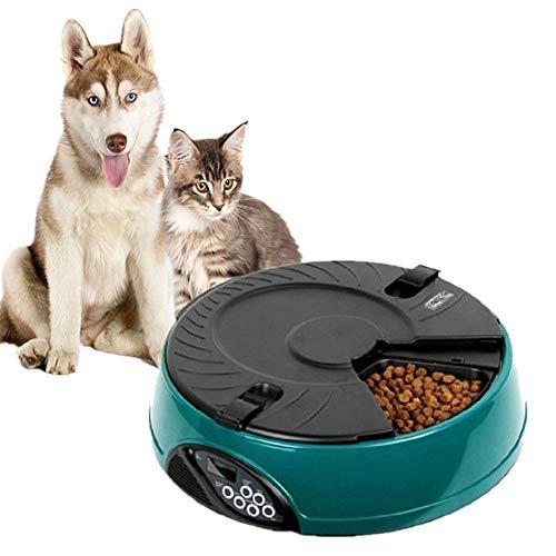 TPMALL Dispenser Cibo Gatti Automatico Distributore Cibo Cani Microchip Cat Feeder Ciotola per mangiatoia per Gatti Kitten Food Feeder Green