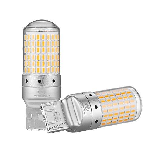 WenTop T20 LED ウインカー アンバー/オレンジ シングル ピンチ部違い対応 美光3014SMD 144連 無極性 ハイ...