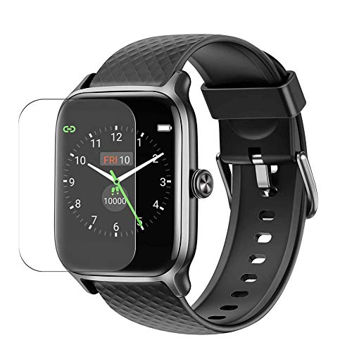 """Puccy 3 Pack Screen Protector Film, compatible with Letsfit EW1 1.3"""" Smart watch TPU Guard ( Not Tempered Glass Protectors )"""