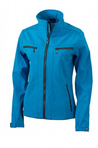 James & Nicholson Damen Jacke Softshelljacke Ladies' Tailored Jacket türkis (turquoise) X-Large