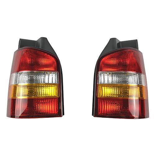 PICFA 7H5945095 7H5945096 ABS-kunststof achterlicht afdekking links & rechts voor Volkswagen Vw T5 Transporter Multivan Caravelle California 03-09 achterlicht Geel rechts.
