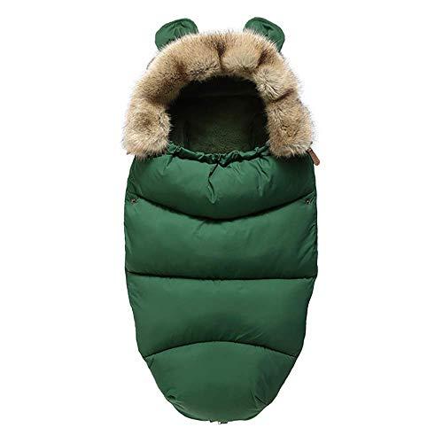 YOFOIWER Voetenzak Slaapzak Geschikt voor kinderen slapen in een wandelwagen of in een autostoel, De wandelwagen is universele voet Muff, Groen