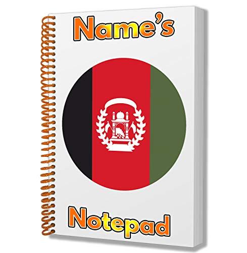 Gepersonaliseerd geschenk - Afghanistan Vlag A5 Kladblok/notitieboekje - Cadeau - Verjaardag - Kerstmis - Voorraadvulling - Geheime Kerstman - ADD Elke naam