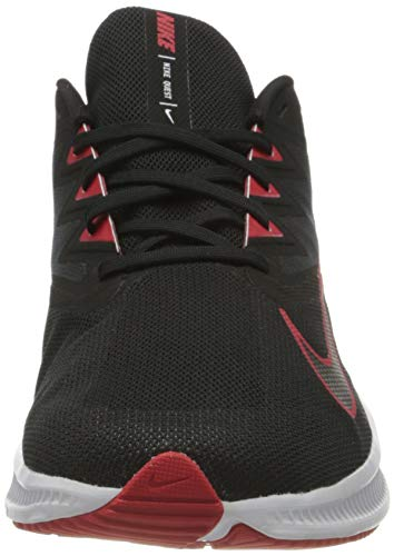 NIKE Quest 3, Running Shoe Hombre, Black University Red White, 43 EU